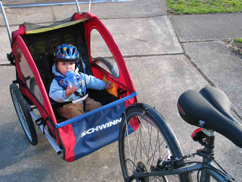 Ultra-Green Transportation: The Bike Trailer/Jogging Stroller