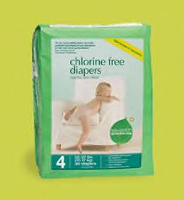 Seventh Generation chlorine free disposable diapers