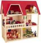 heirloom wooden dollhouse