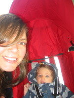 Audrey\'s very first stroller ride