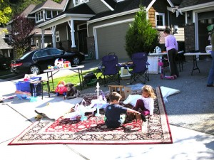 garage sale for kids