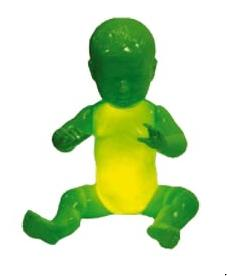 green baby lamp