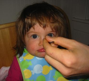 spoonfeeding a baby