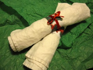 Homemade Napkin Rings for Holiday