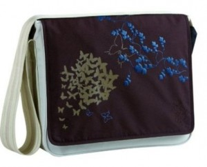 Lassig messenger eco-friendly diaper bag