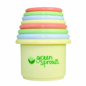 green sprouts stacking cups BPA-free