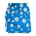 Fuzzibunz cloth pocket diaper blue daisy