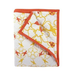 argington organic crib quilt heart and flowers