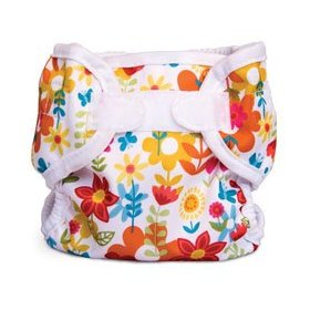 bummis flower print cloth diaper