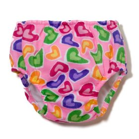 diaperaps heart print training pants
