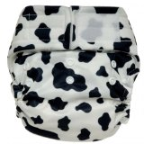 happy heiny's cloth diaper cow hide print