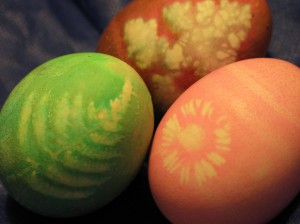 green easter holiday celebration with natural egg dyes