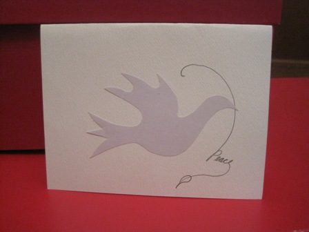 Christmas Card Ideas on Diy Holiday Card Creations   Cut Out A Dove  Glue It On The Card