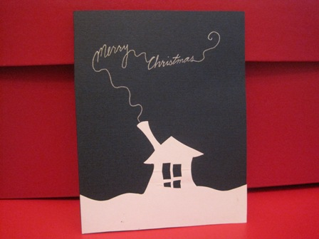 Christmas Card Ideas on This Homemade Christmas Card Was Easy To Mass Produce  I Simply Cut
