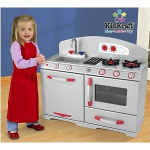 Affordable wooden play kitchens make eco friendly holiday gifts kidkraft silver retro kitchen 16999 melissa workwithnaturefo