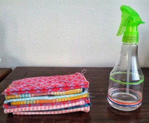 Homemade wipes with sprayer