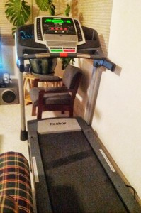 My treadmill, gathering dust
