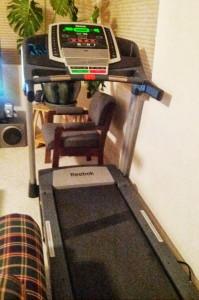 My treadmill, gathering dust