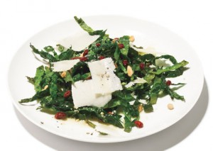 Kale Salad with Currants and Pine Nuts
