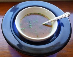 Green Tea and Ginger Broth with Scallions